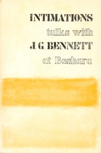 Intimations JG Bennett Beshara Publications