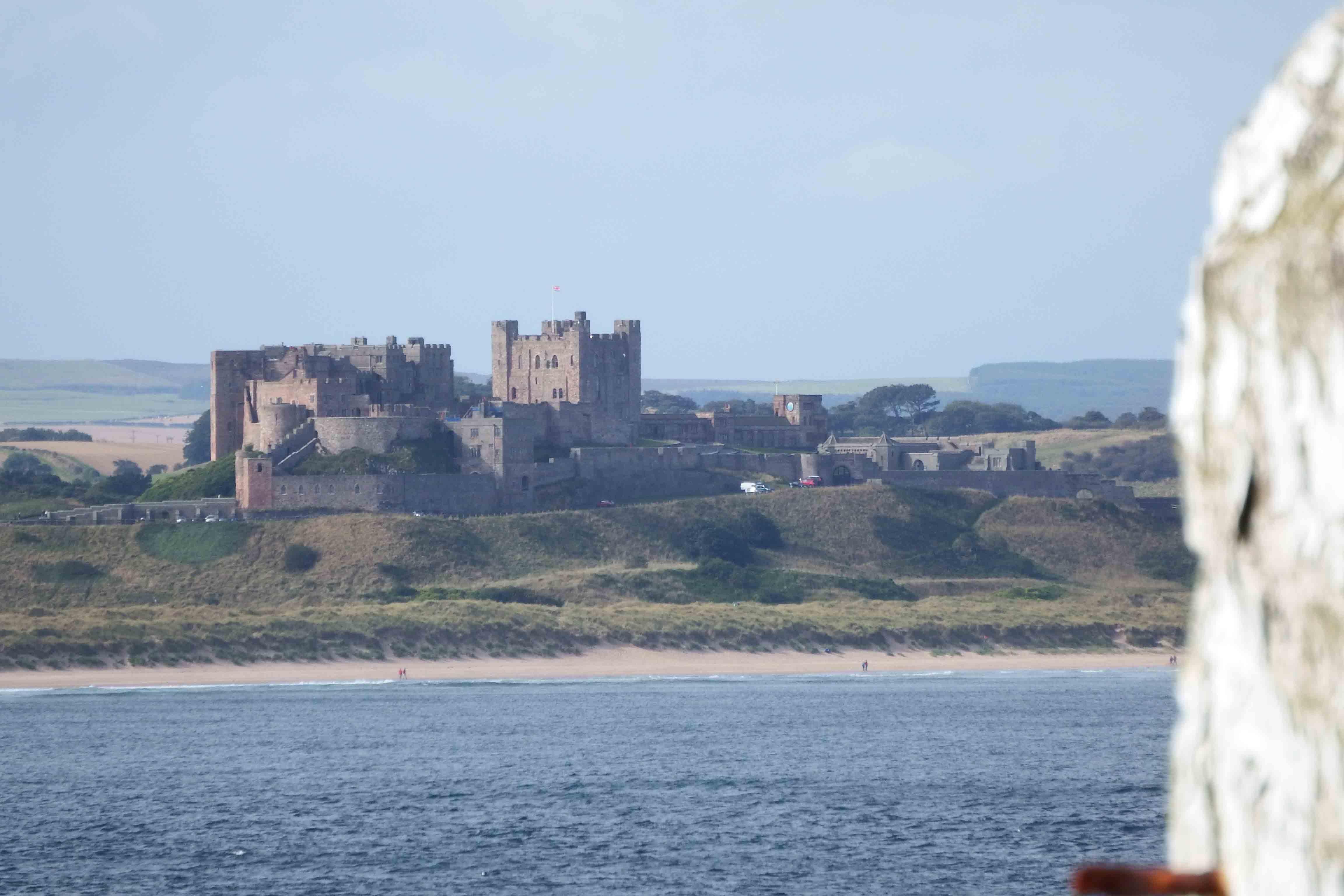 Bamburgh Castle seen from Inner Farne